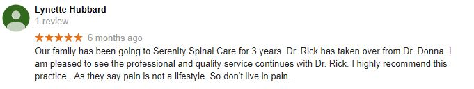 Galla Chiropractic Group Patient Testimonial